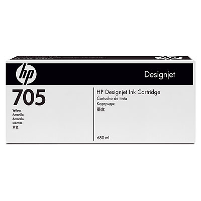 Mực in HP 705 680-ml Yellow Designjet Ink Cartridge (CD962A)