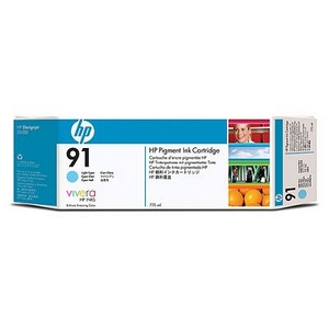 Mực in HP 91 775-ml Pigment Light Cyan Ink Cartridge (C9470A)